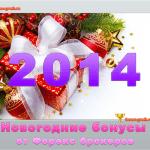 Новогодние бонусы и акции Форекс брокеров в 2014 году!